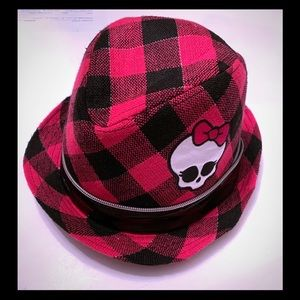 Monster High pink and Black Hat